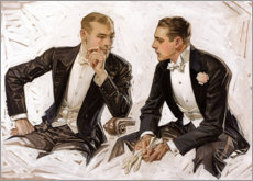 Wood print  Noble gentlemen in tuxedos - Joseph Christian Leyendecker