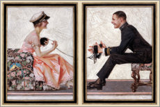 Wall sticker  The Lovebirds - Joseph Christian Leyendecker