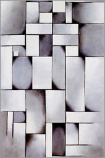 Wall sticker  Composition in grey (Rag-time) - Theo van Doesburg
