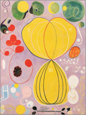 Aluminium print  The Ten Largest, No. 7, Adulthood - Hilma af Klint