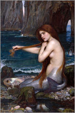 Wall sticker  The mermaid - John William Waterhouse