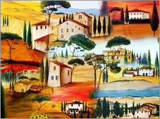 Wall Stickers  Tuscany Collage - Christine Huwer