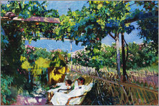 Wall sticker  Siesta in the garden - Joaquin Sorolla y Bastida