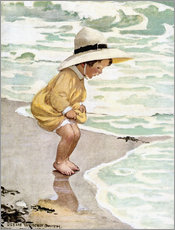 Gallery print  A little girl playing in the waves - Jessie Willcox Smith