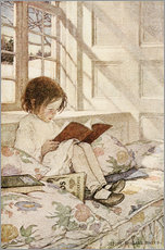 Gallery print  Picture books in winter - Jessie Willcox Smith