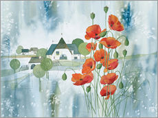 Wall sticker Poppy flower