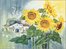 Wall sticker Rays of sun flowers
