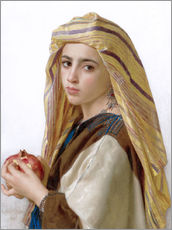 Wall sticker  Girl with a pomegranate - William Adolphe Bouguereau