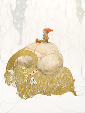 Wall sticker  Julbock, christmas goat - John Bauer