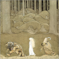 Gallery print  The Princess and the Trolls - John Bauer