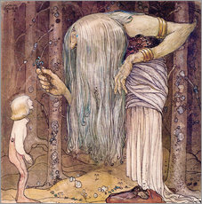 Wall sticker  The magic herb - John Bauer