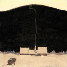 Wall sticker  The House at the foot of the Mountain - John Bauer