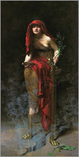 Wall sticker  Priestess of Delphi - John Collier