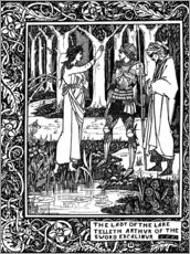 Gallery print  The Lady of the Lake and Arthur - Aubrey Vincent Beardsley