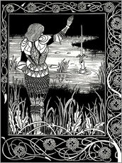 Wall Stickers  How Sir Bedivere Cast the Sword Excalibur into the Water - Aubrey Vincent Beardsley