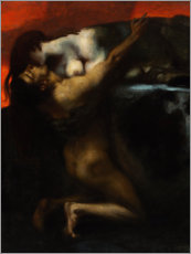 Premium poster  The Kiss of the Sphinx - Franz von Stuck