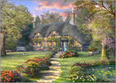 Wall Stickers  Country house with rose garden - Dominic Davison