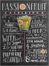 Wall sticker  Passion Fruit Caipirinha recipe - Lily & Val