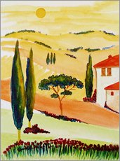 Wall sticker  Tuscany Idyll 5 - Christine Huwer