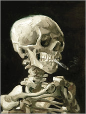 Gallery print  Skeleton with a burning cigarette - Vincent van Gogh