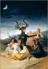 Wall Stickers  Witches' Sabbath - Francisco José de Goya