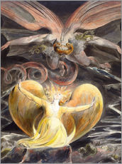 Gallery print  The great red dragon and the woman clothed with sun - William Blake