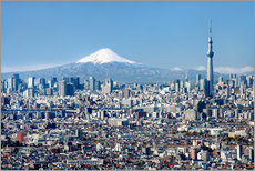 Gallery Print  Tokyo Skyline with Mt Fuji and Skytree and Shinjuku - Jan Christopher Becke
