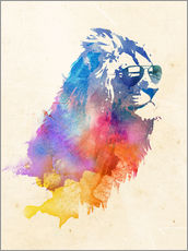 Gallery print  Colorful lion - Robert Farkas