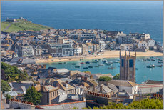 Gallery print  Overlooking St. Yves in Cornwall, Engalnd) - Christian Müringer