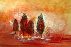 Gallery print  red Landscape - Tina Melz