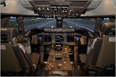 Gallery print  Simulator of a Boeing 747