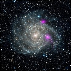 Wall sticker  Spiral galaxy IC 342, NuSTAR X-ray image - NASA