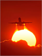 Wall sticker  Boeing 737 taking off at sunset - David Nunuk