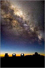 Gallery print  Mauna Kea telescopes and Milky Way - David Nunuk