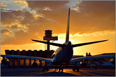 Gallery print  Airbus at the Frankfurt airport - HADYPHOTO