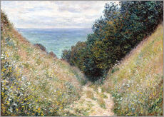 Wall Stickers  Road at La Cavée, Pourville - Claude Monet