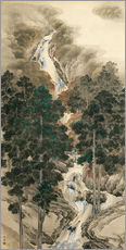 Gallery print  Waterfall in spring and autumn - Kishi Chikudo