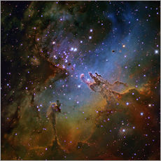 Gallery print  Eagle Nebula, optical image - Robert Gendler
