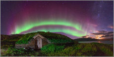 Gallery Print  Auroral over Viking house, Greenland - Juan Carlos Casado