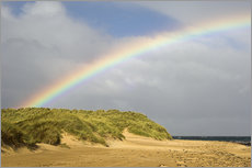 Wall sticker  Rainbow over sand dunes - Duncan Shaw