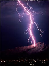 Wall sticker  Lightning over Tucson - Keith Kent