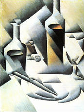 Wall Sticker  Still Life with bottles and knives - Juan Gris
