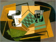 Juan Gris - Chessboard, Glass, and Dish