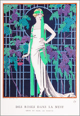 Wall sticker  Roses in the Night - Georges Barbier
