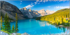Wall sticker  Moraine Lake at the morning panorama - rclassen