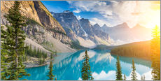 Wall sticker  Moraine Lake panorama, Banff National Park, Alberta, Canada - rclassen
