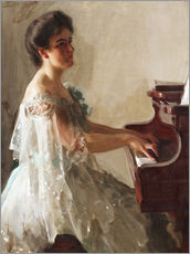 Gallery print  At the piano - Anders Leonard Zorn