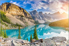 Gallery print  Canada - Sunrise at the Moraine Lake - Banff Alberta - rclassen