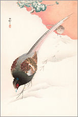 Gallery print  A Pair of Pheasants in the Snow - Ohara Koson