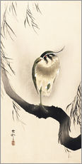Gallery print  Heron on a weeping willow - Ohara Koson